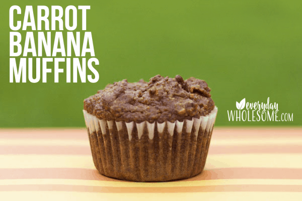 carrot banana raisin gluten free muffin recipe