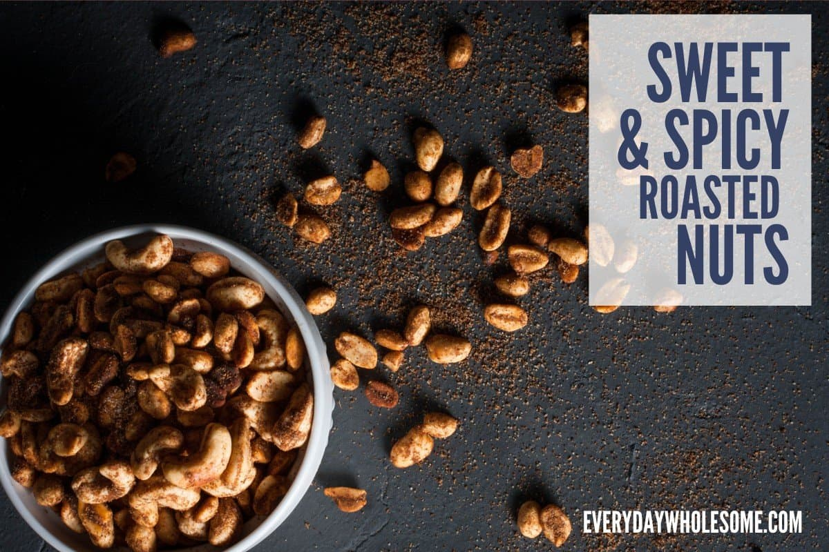 sweet and spicy roasted nuts recipe