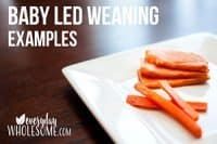 baby led weaning examples