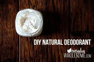 DIY NATURAL SAFE DEODORANT