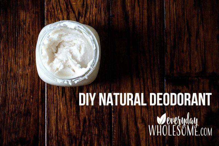How to make your own DIY Homemade Natural Nontoxic Deodorant Recipe