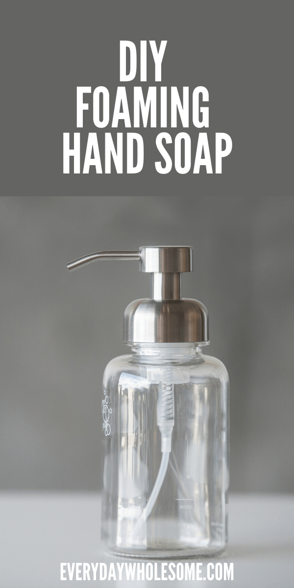 How to make your own homemade hand soap recipe with Castile soap & essential oils