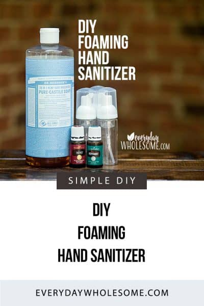 My favorite recipe for DIY Foaming Hand Sanitizer. It is fast, easy and inexpensive. It's the best hand soap around. And you can customize it to be perfect.