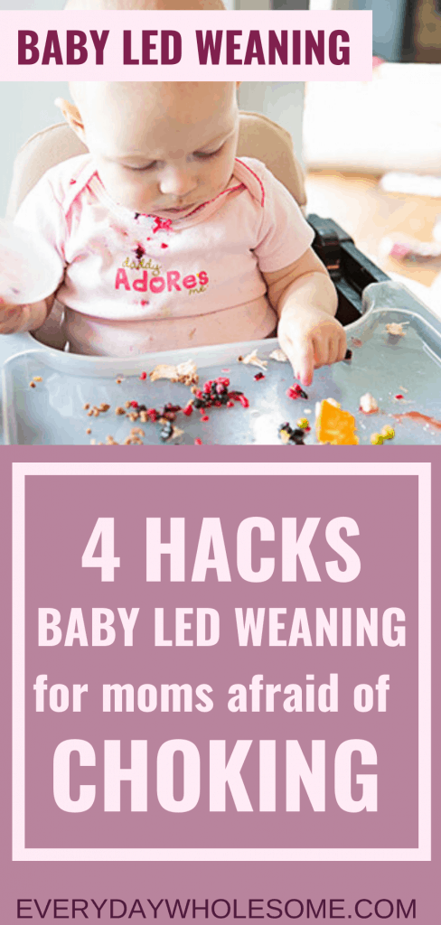 Baby led weaning hacks for introduction to first foods for 6 month old babies with no teeth