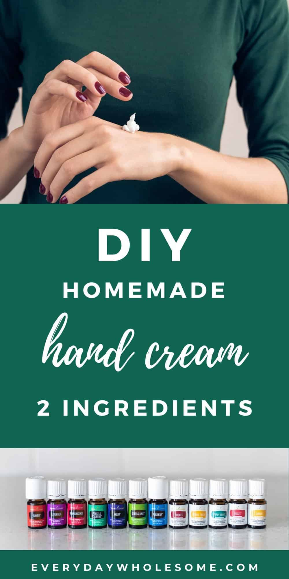 diy hommeade hand cream recipe with shea butter coconut oil