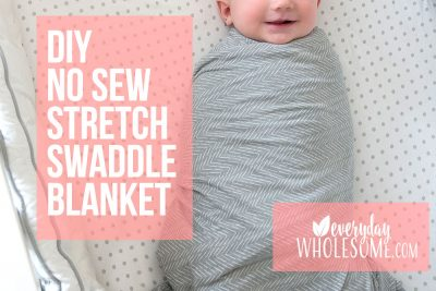 diy no sew stretch swaddle