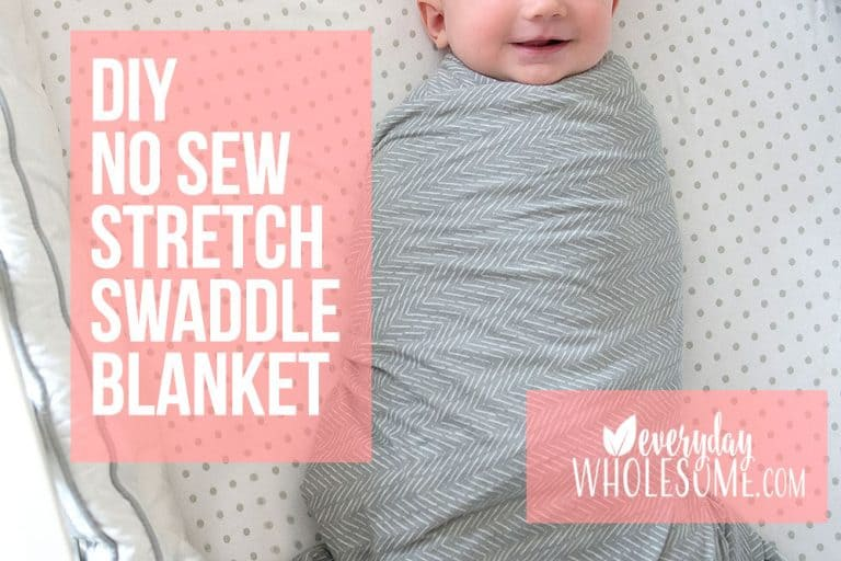 Stretchy Swaddle Blanket | How to make DIY Baby No Sew