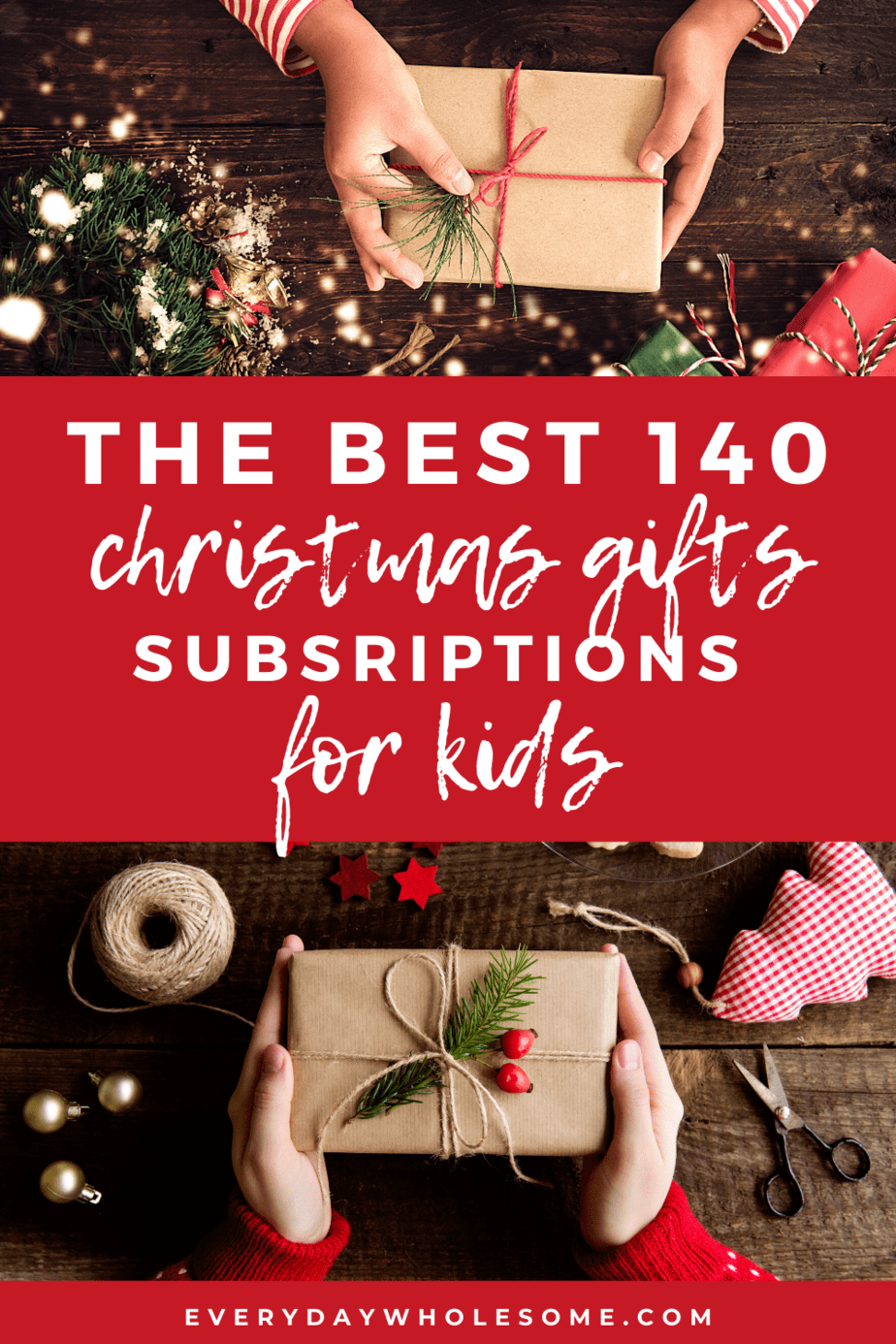 the best 140 gift subscriptions for kids for christmas pin