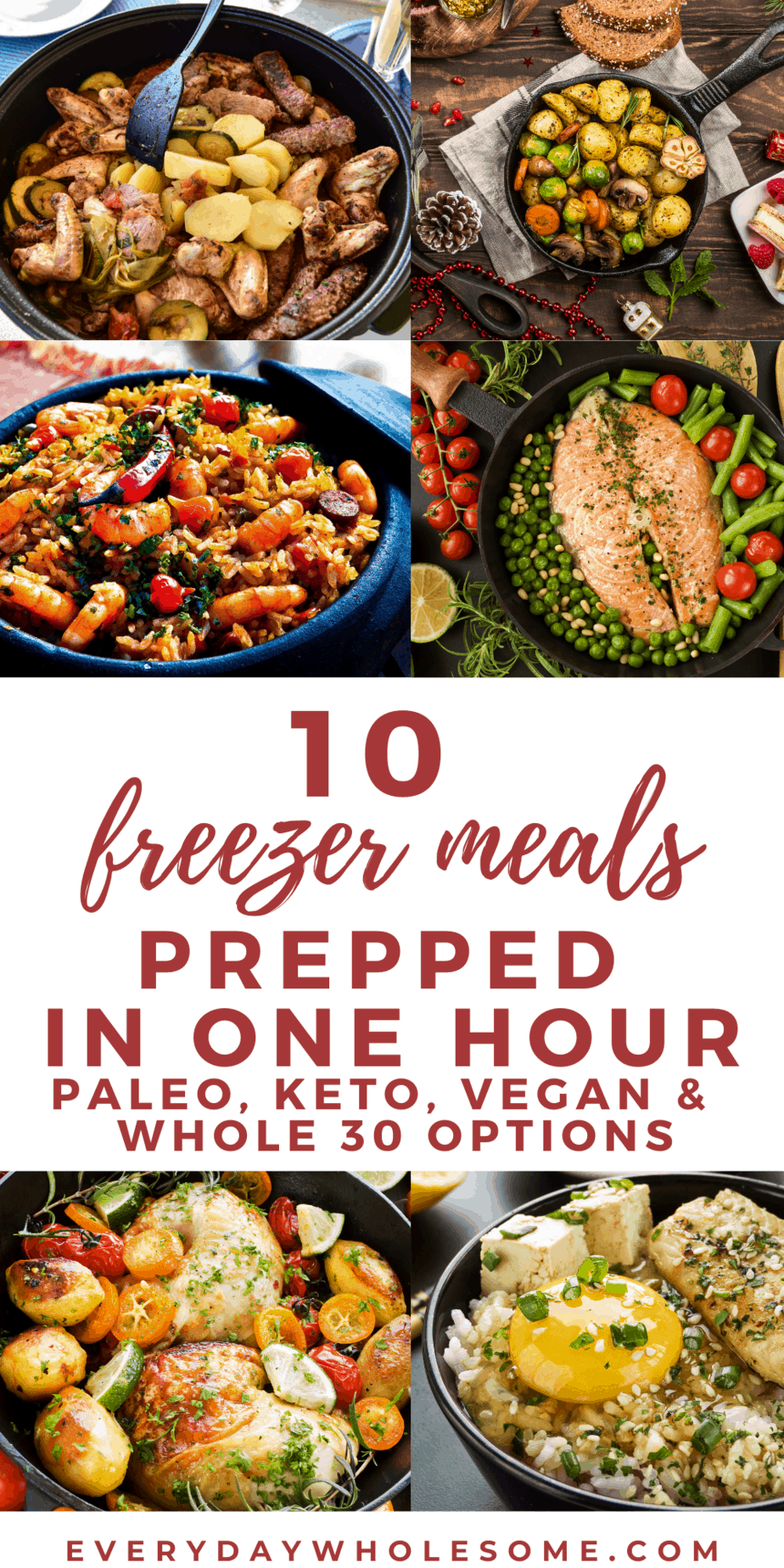 10 FREEZER MEALS PREPPED IN ONE HOUR VEGAN PALOE KETO WHOLE 30