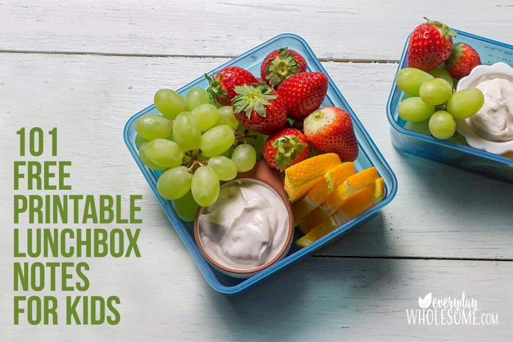 101 FREE PRINTABLE LUNCHBOX NOTES FOR KIDS
