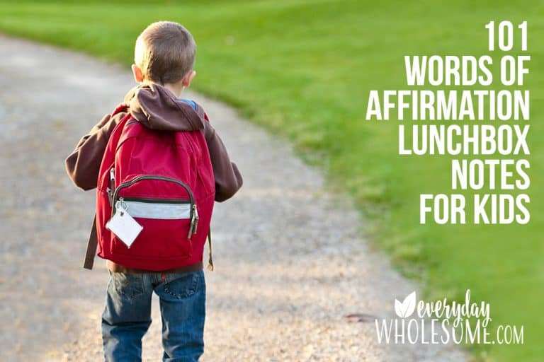101 POSITIVE WORDS OF AFFIRMATION LUNCHBOX NOTES FOR KIDS