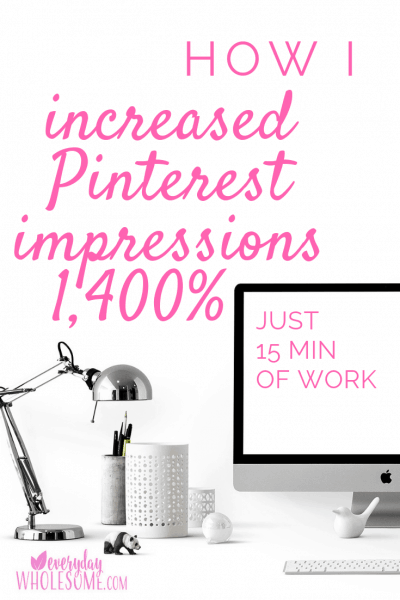 increased pinterest impressions