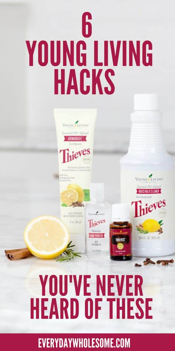 6 young living essential oil hacks