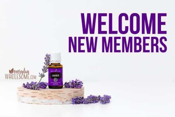 welcome new young living members