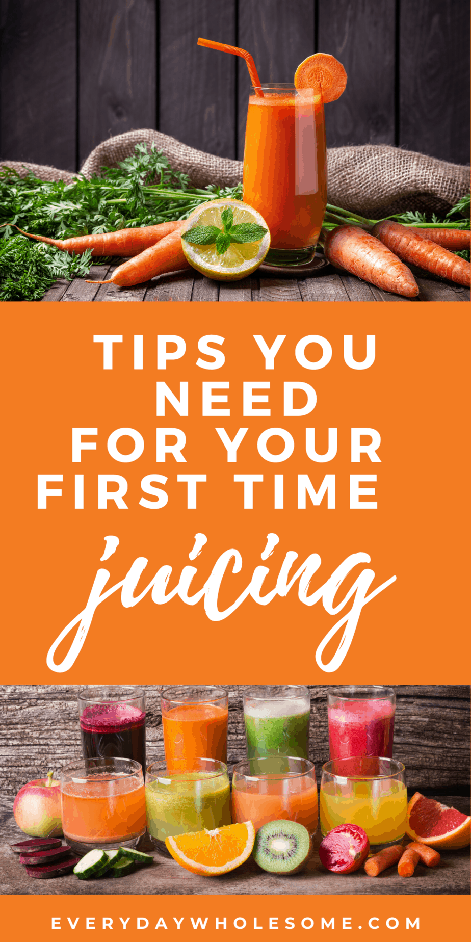 tips you need for your first time juicing