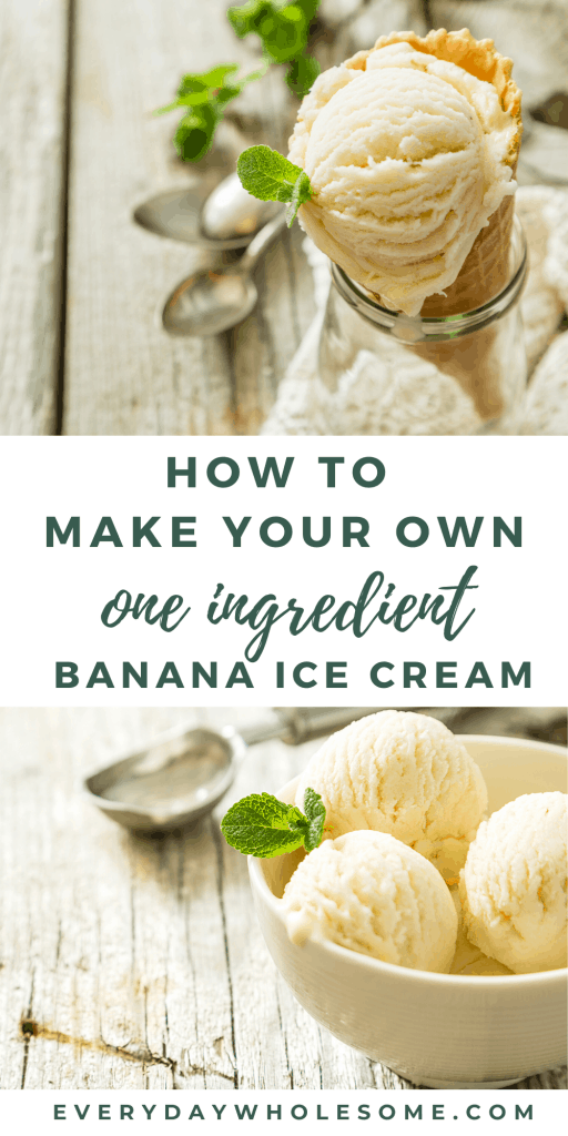 homemade one ingredient banana ice cream