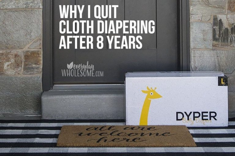 Why I Quit Cloth Diapering after 8 years!