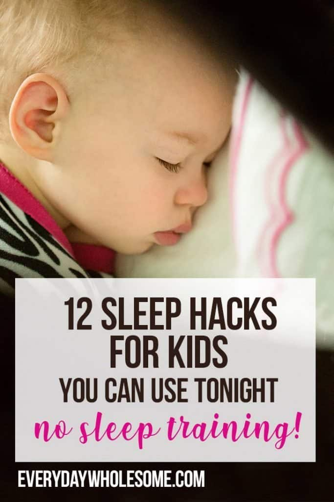 12 sleep hacks for kids you can do tonight