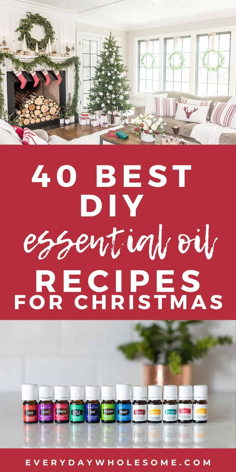 40 best diy essential oil recipes for christmas pin
