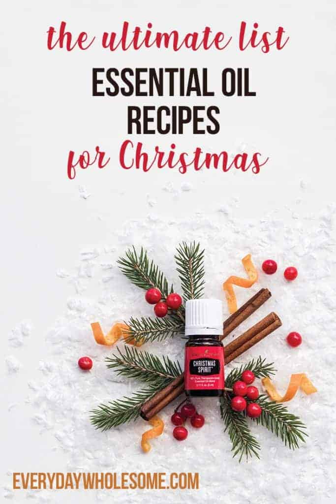 essential oil recipes for Christmas