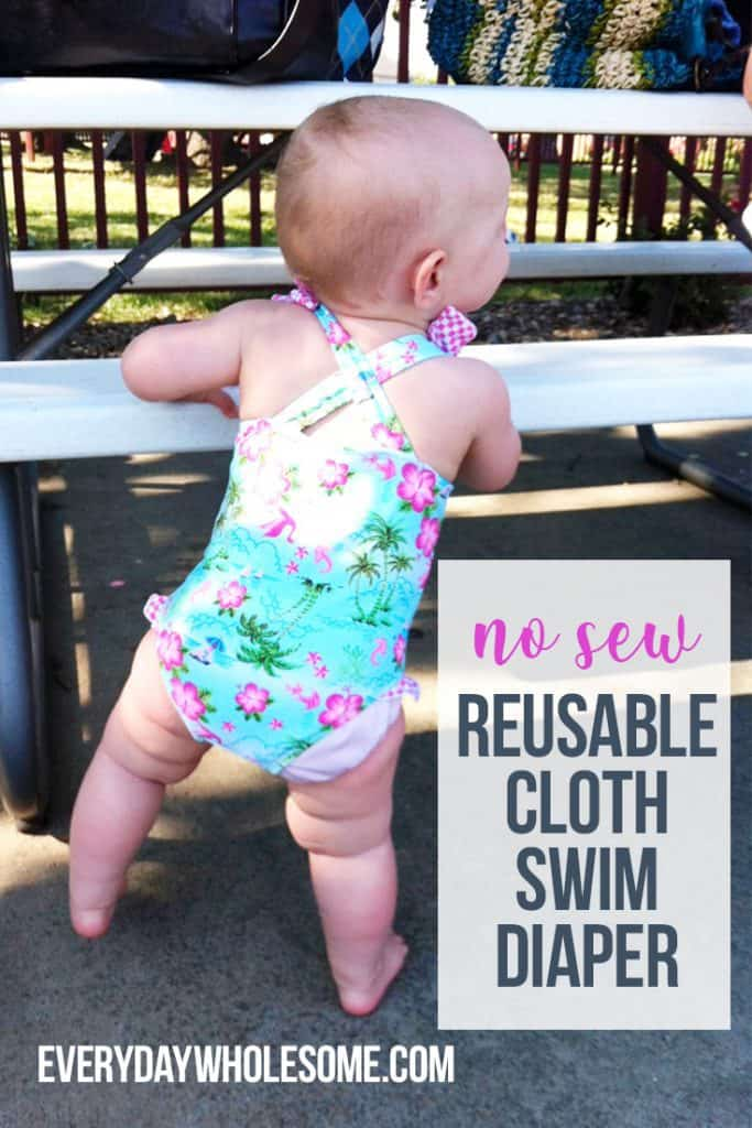 DIY swim diaper, No sew reusable cloth diaper swim cover for babies. cloth diapers