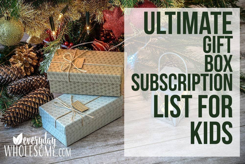 ultimate gift subscription boxes list for kids