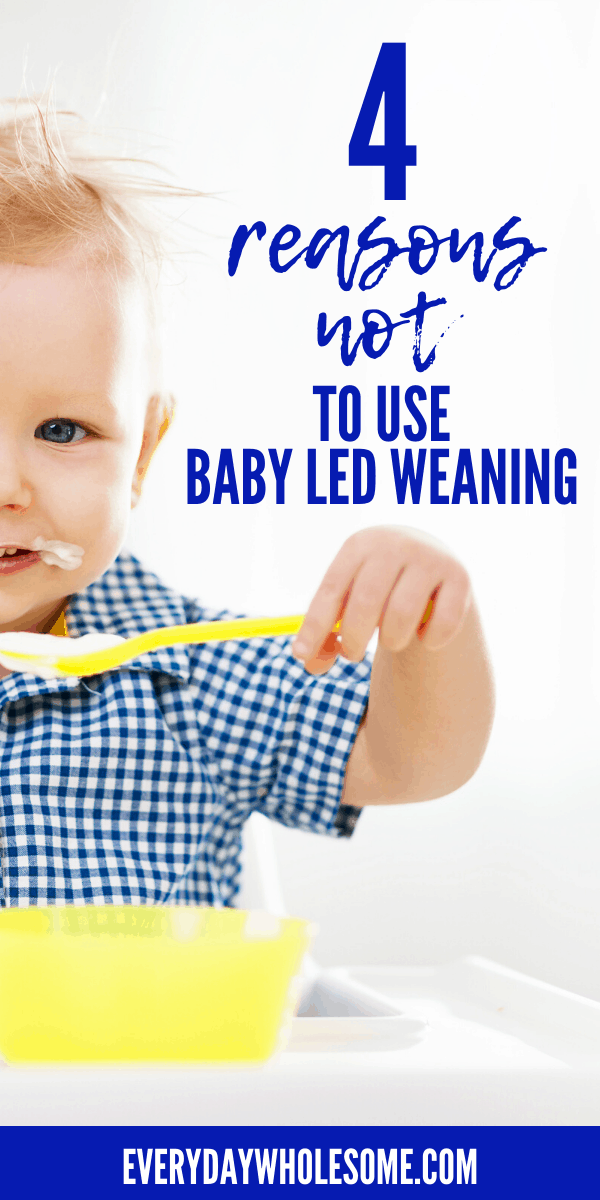 4 reasons not to do baby led weaning