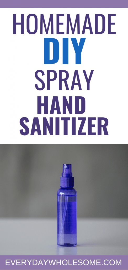 HOW TO MAKE YOUR OWN DIY HOMEMADE SPRAY HAND SANITIZER RECIPE using alcohol