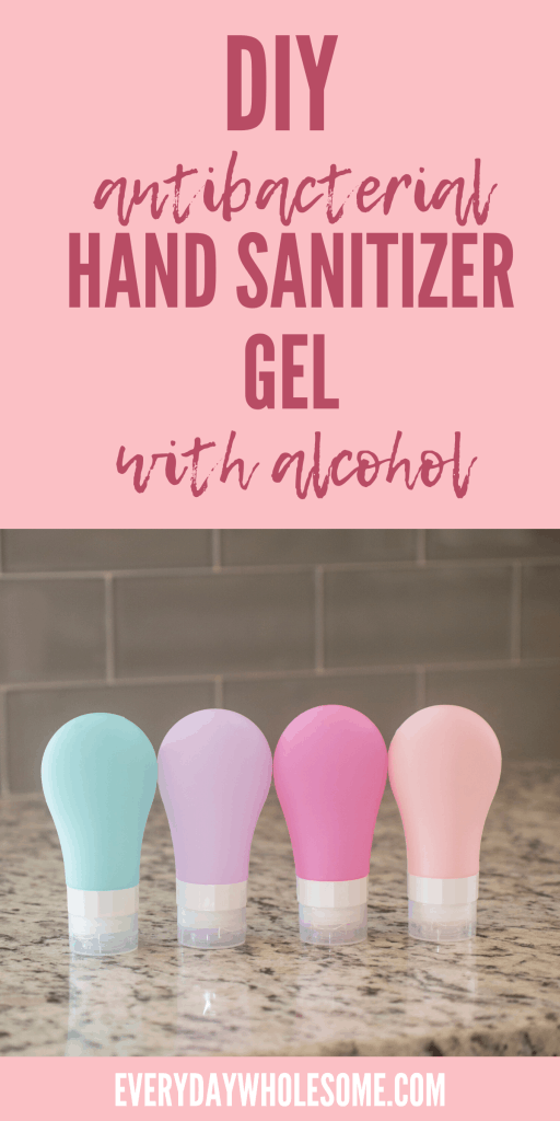 Homemade DIY Hand sanitizer or purifier gel with aloe vera recipe