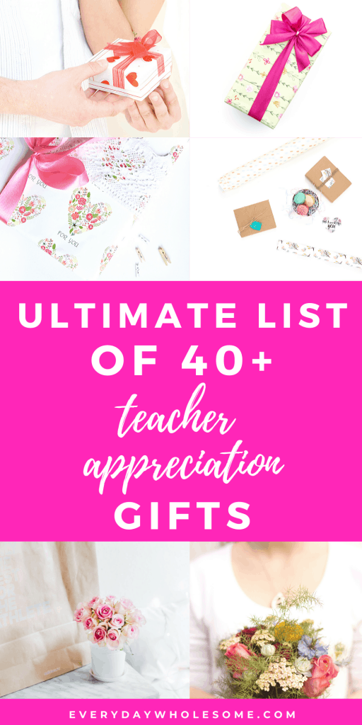 ulitmate list of teacher appreciation gifts guide