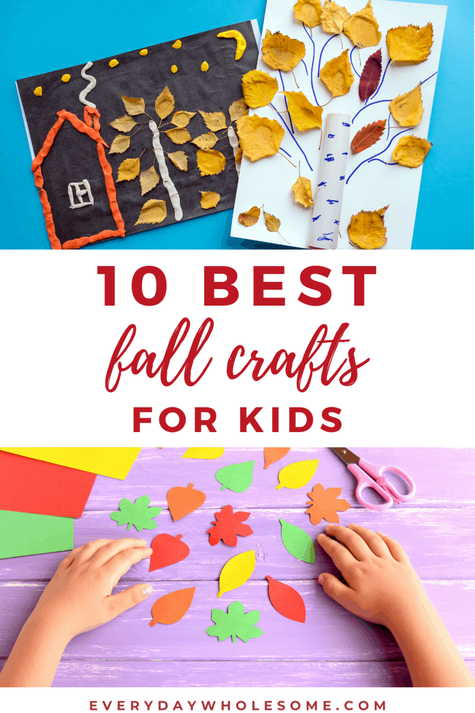 10 best fall crafts for kids pin