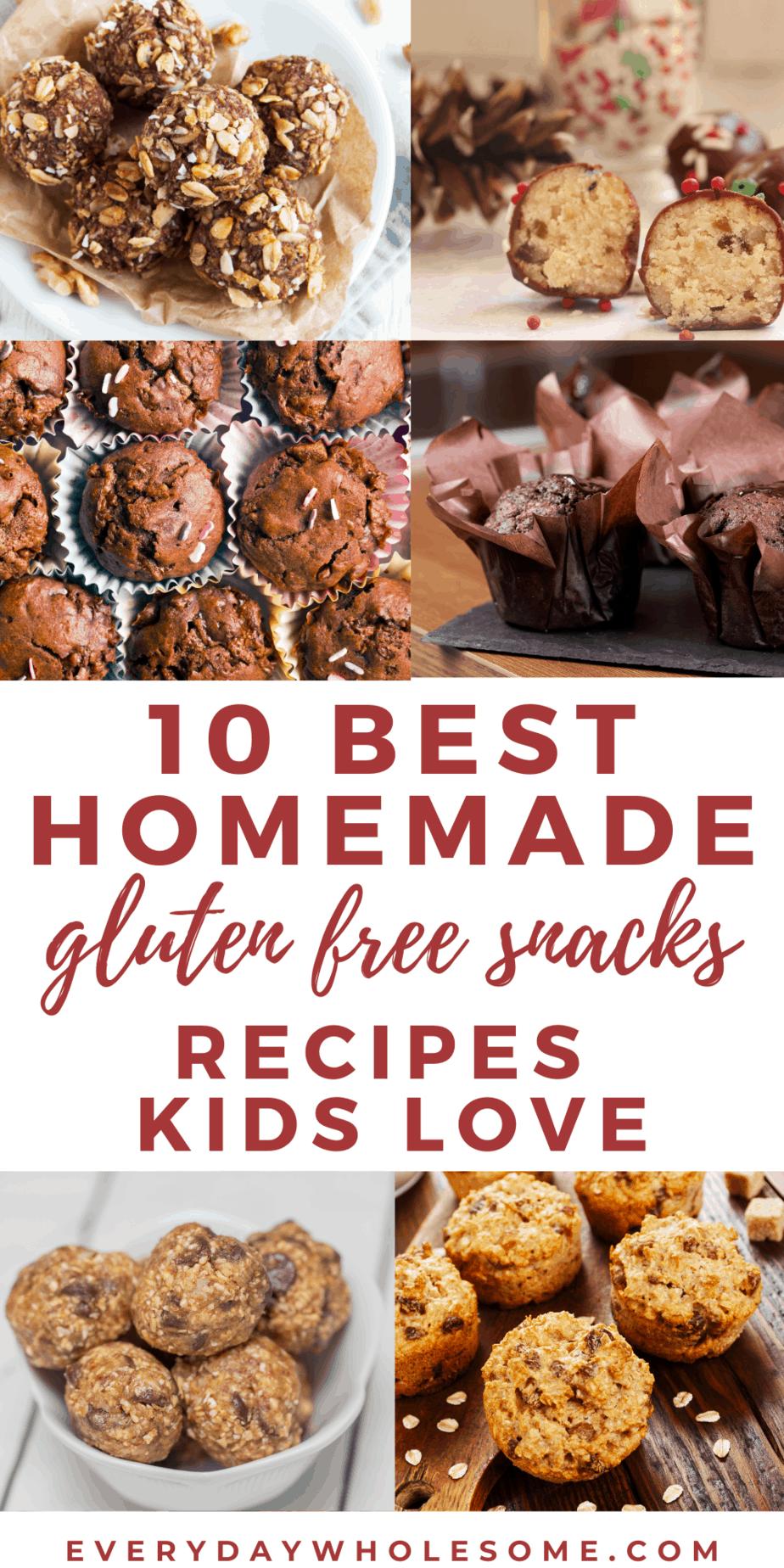 10 best homemade gluten free snack recipes kids love pin