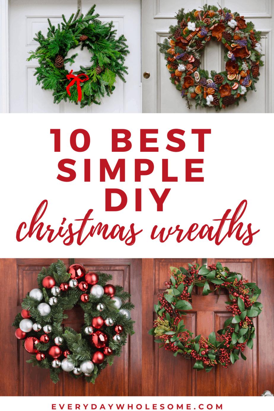 10 best simple diy christmas wreaths