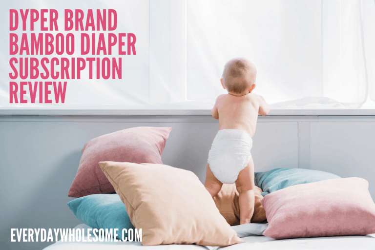 DYPER Bamboo Diaper Subscription Review | Natural Nontoxic Disposable Diapers