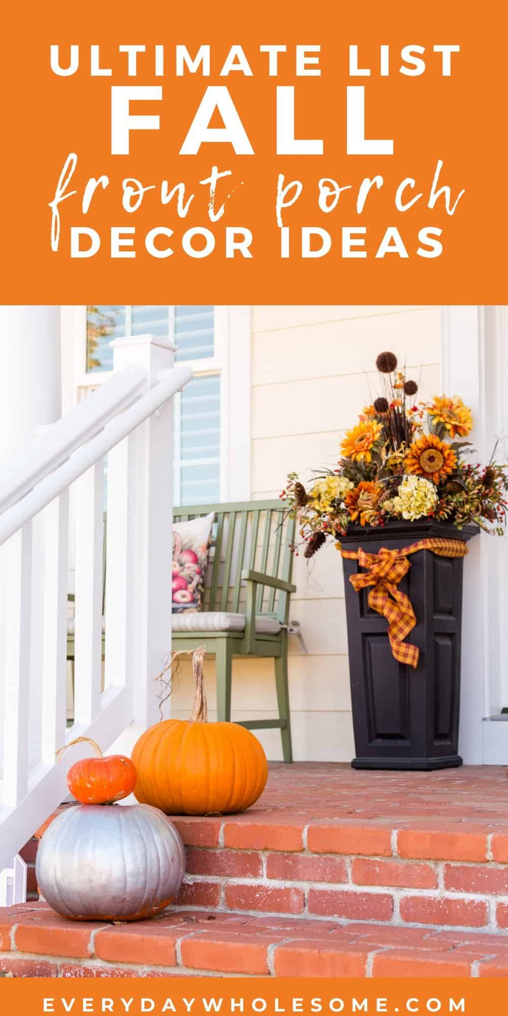 ultimate list fall front porch decor ideas