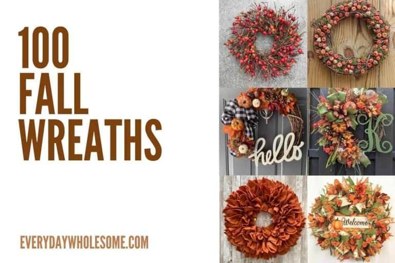 100 Best Fall Wreaths for your Autumn Front Door