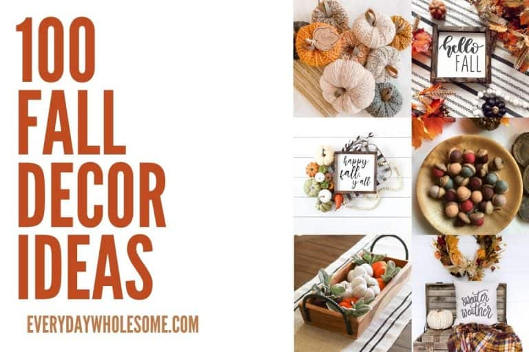 100 Fall Home Decor Ideas for Autumn & Thanksgiving