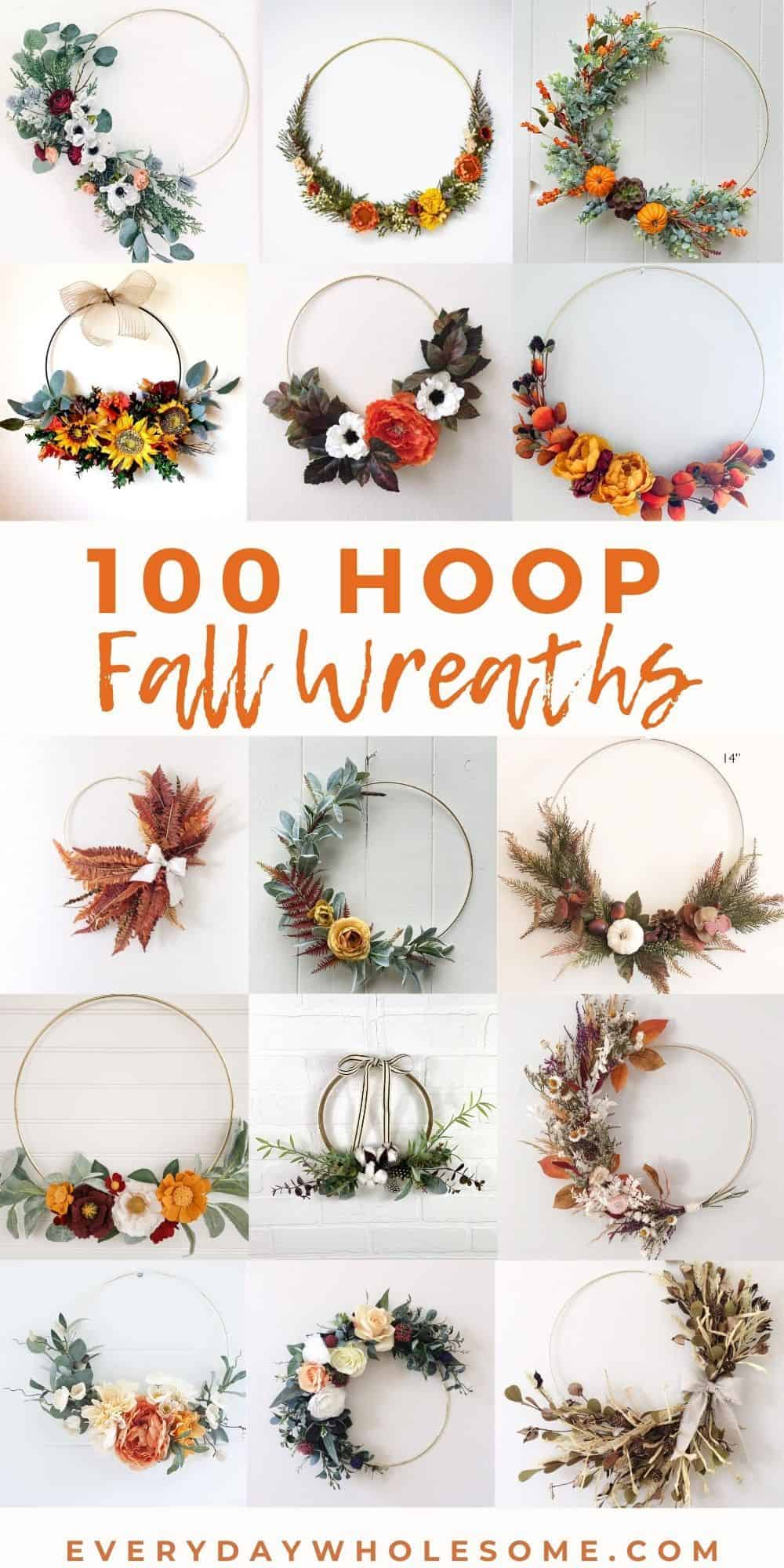 Everyday Wholesome 100 Best Fall Hoop Wreaths For Autumn