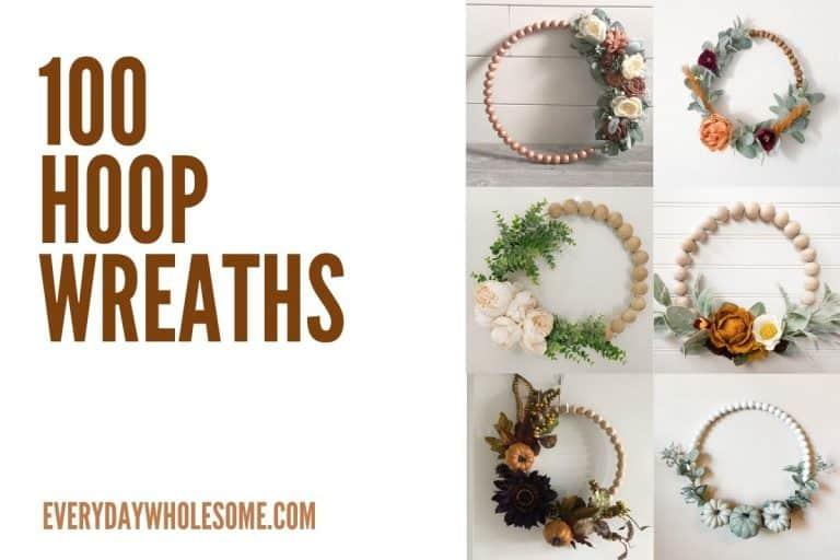100 Best Fall Hoop Wreaths for Autumn