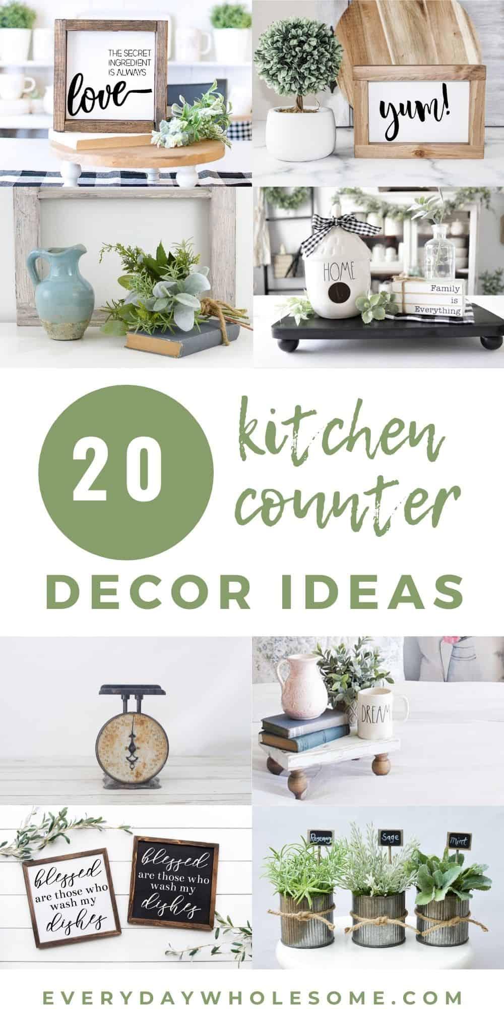 Everyday Wholesome 20 Kitchen Countertop Decor Ideas