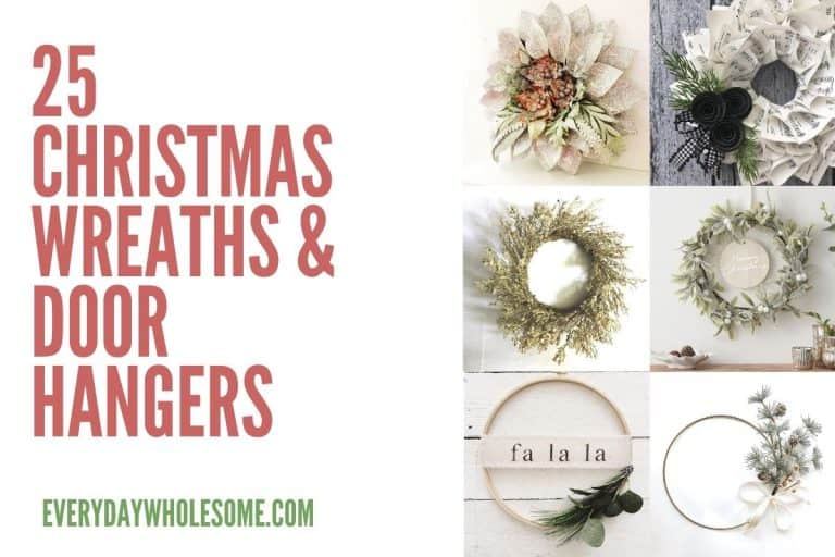 25 Christmas Wreaths & Door Hangers for the Holidays