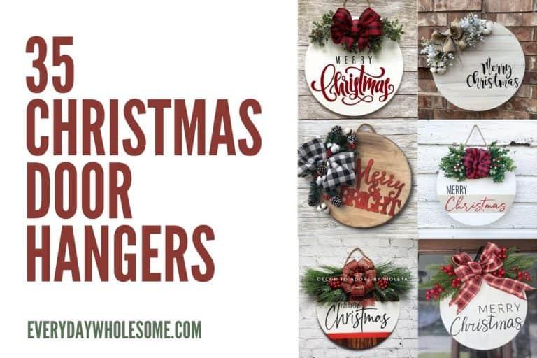 35 Best Christmas Door Hangers for Holiday Decor