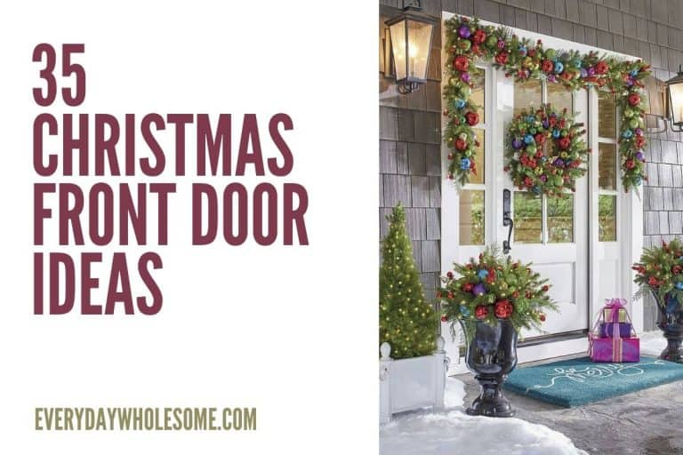 35 Best Christmas Front Porch Decorations for the Holidays