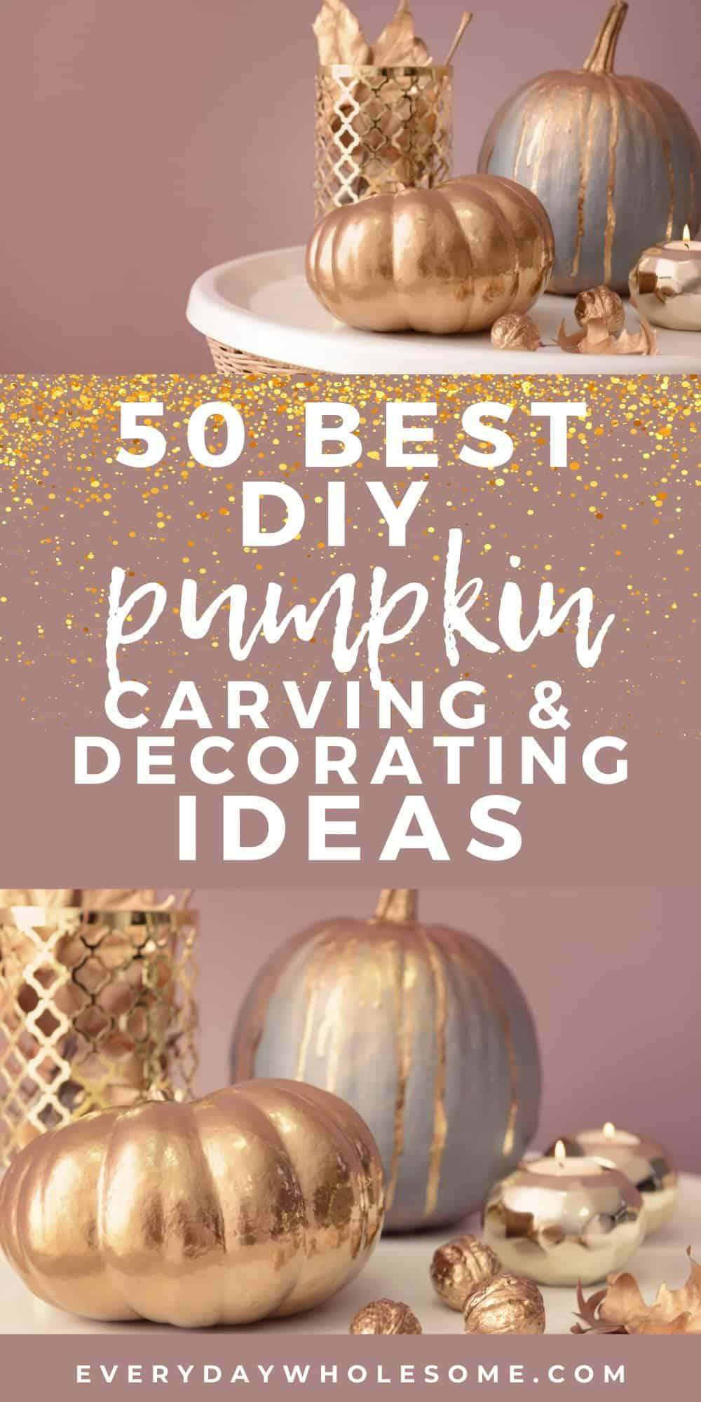 50 best glitter pumpkin crafts