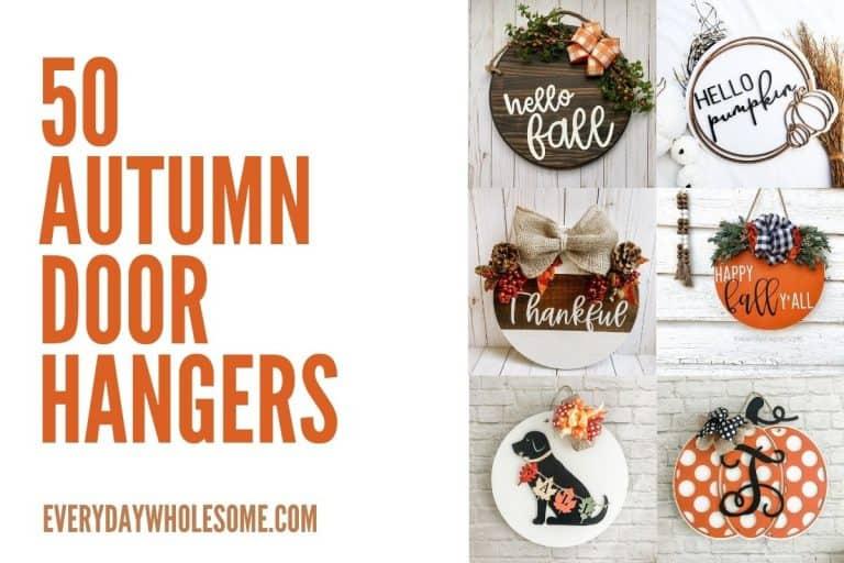 50 Best Fall Signs & Autumn Door Hangers