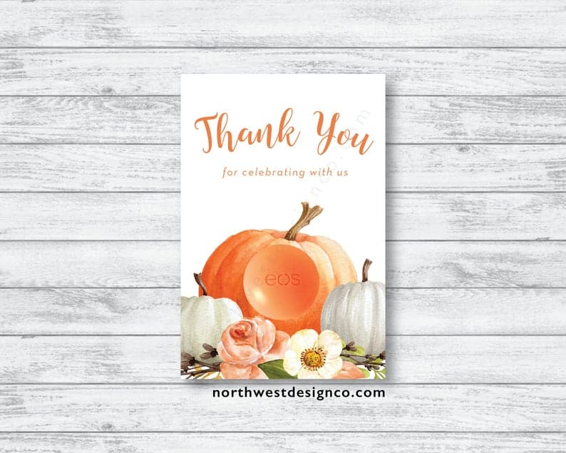 HALLOWEEN BABY SHOWER THANK YOU NOTES