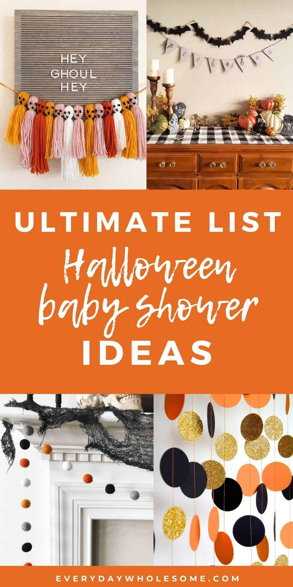ulitmate list halloween baby shower ideas