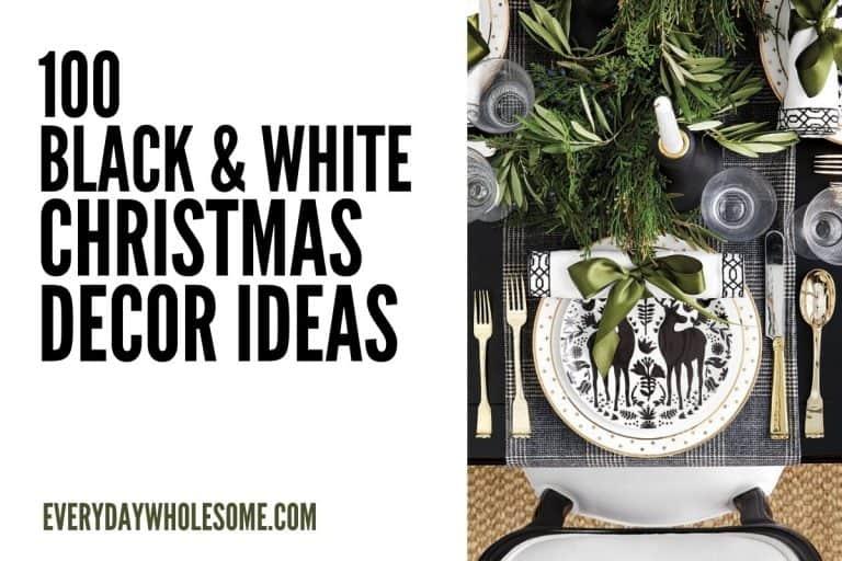 100 Best Black & White Buffalo Plaid Christmas Decorations
