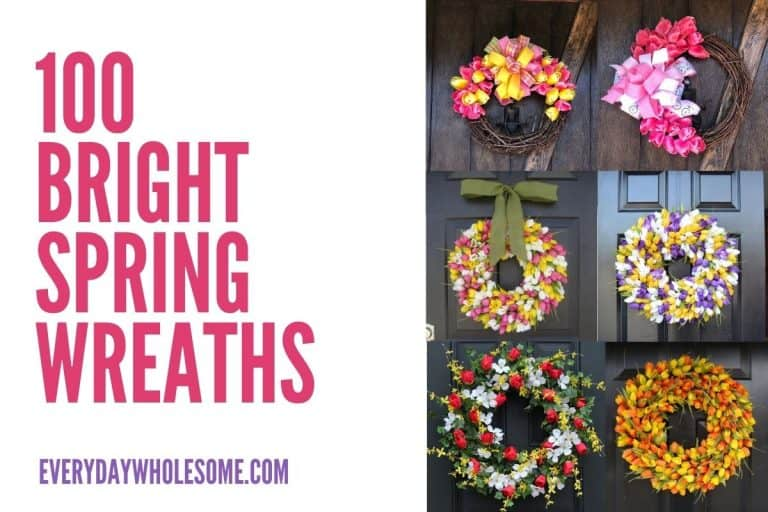 100 Bright Spring Wreaths for the Front Door