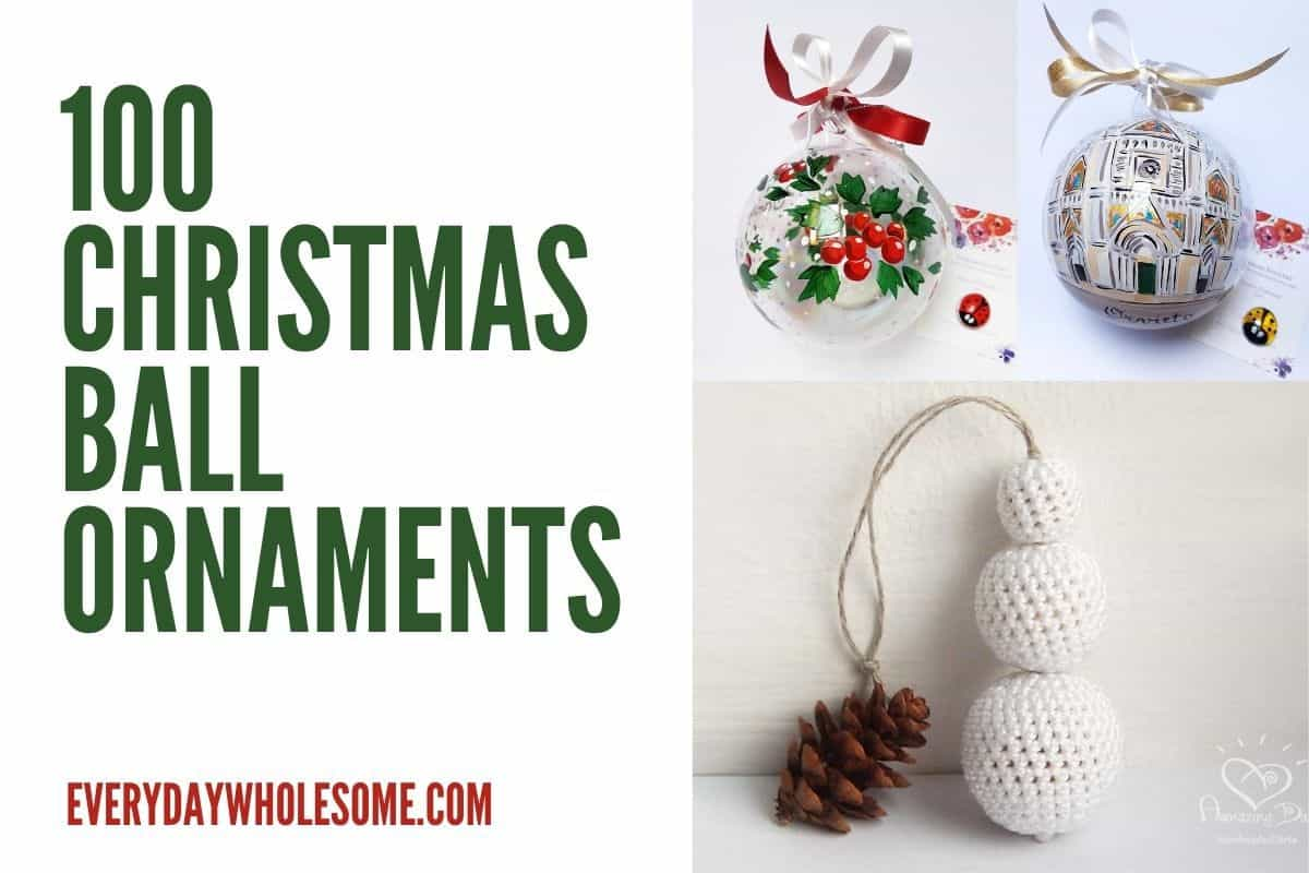 Everyday Wholesome 100 Best Elegant Ball Christmas Tree Ornaments Gift Guide